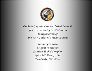 Invitation to the Inauguration of the newly elected Tribal Council