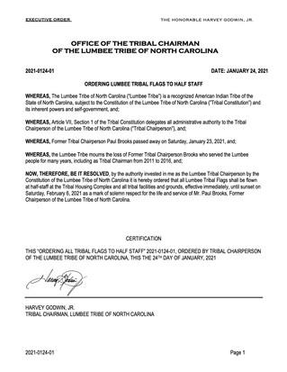 Executive Order 2021-0124-01