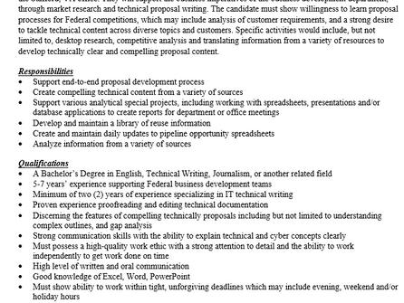 Proposal Analyst