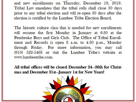 Opening of Enrollment