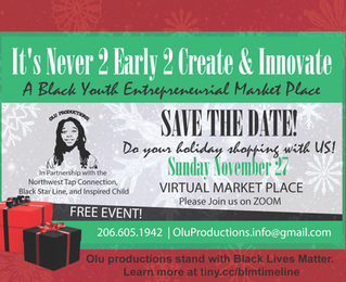 Save the Date!! It's Never 2 Late 2 Create & Innovate Virtual Marketplace.