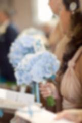 Blue Hydrangeas, handtieds, boreham house, chelmsford