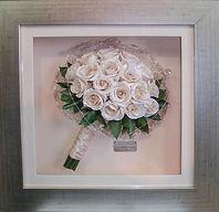 Framed Bridal bouquet preserved