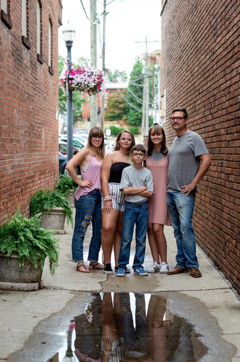 Urban family photo