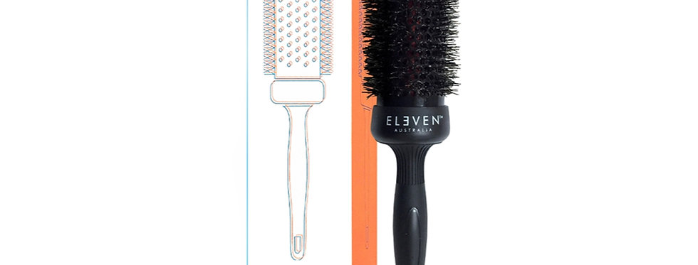 ELEVEN LARGE ROUND BRUSH