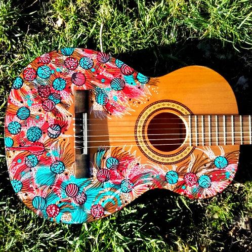 handpainted classical guitar - musima - concert guitar