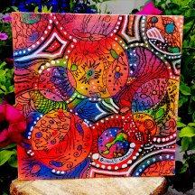 canvas - uv active  (20 cm x 20 cm)