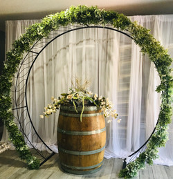 Rustic greenery arch