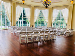 Iconic White resin Ceremony Chairs