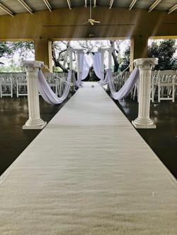 White carpet runner rental