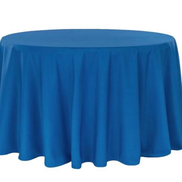 Royal blue polyester $10.25