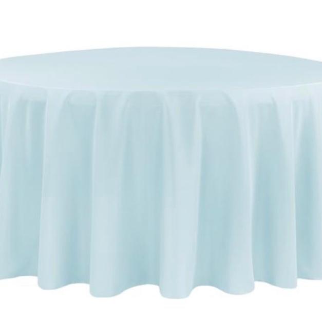 light blue polyester $10.25