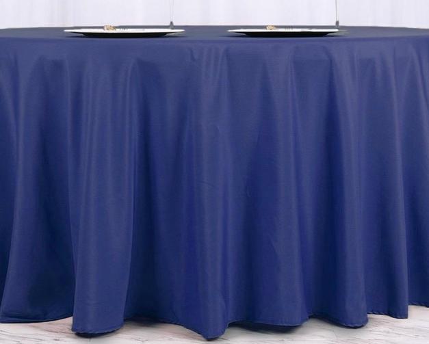 Navy blue polyester $10.25
