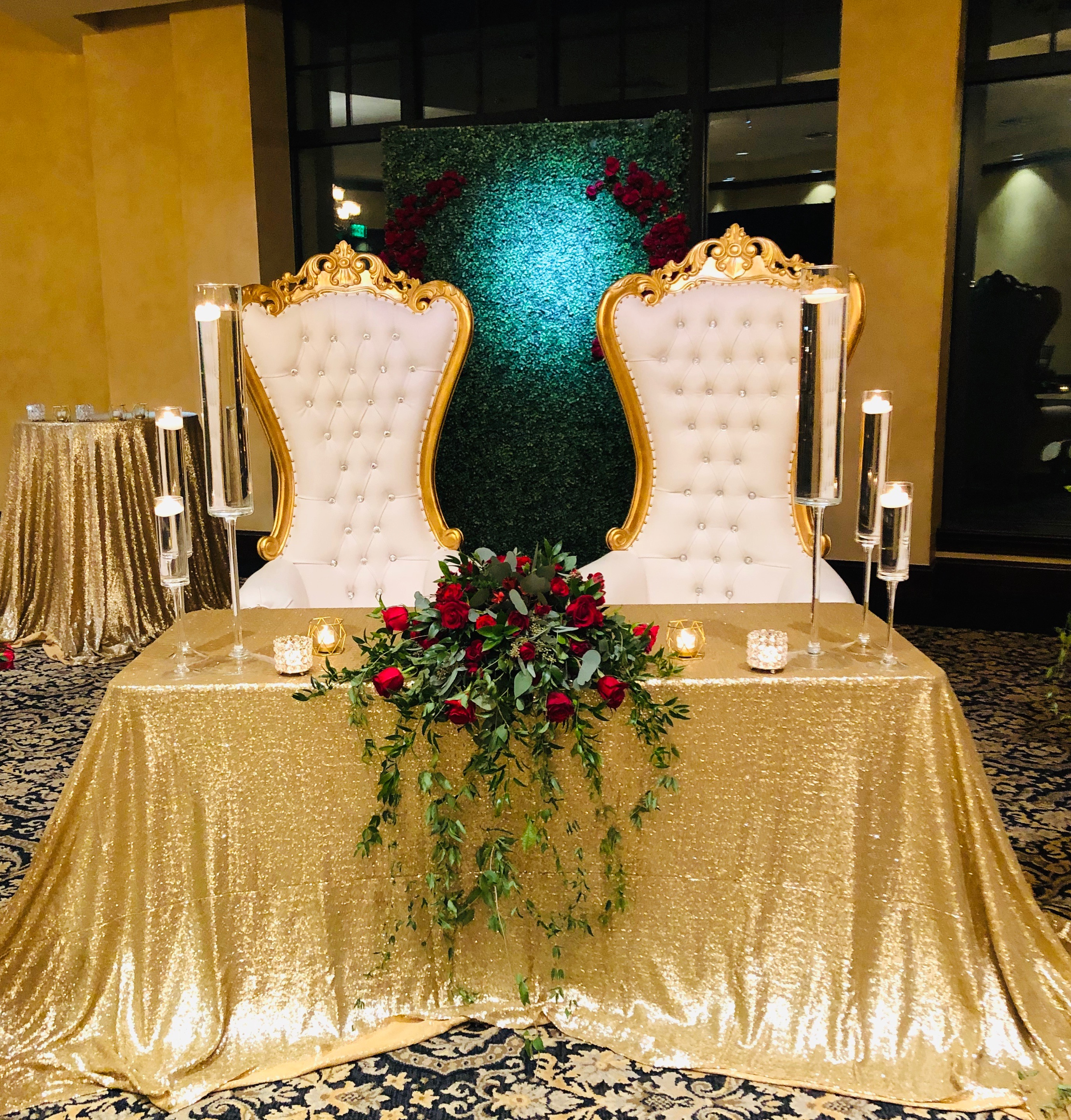 throne chair rental available