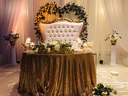 throne love seat rental