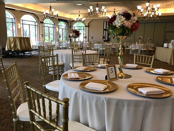 Chair rental, Dance floor rental, table centerpiece
