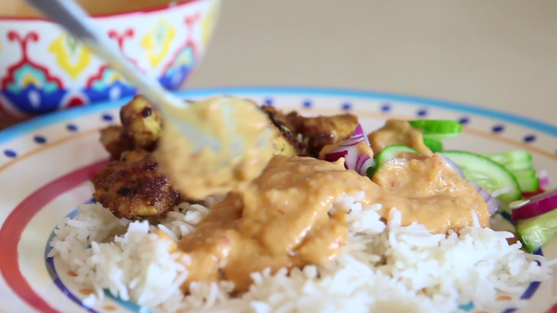 Satay Chicken and Rice