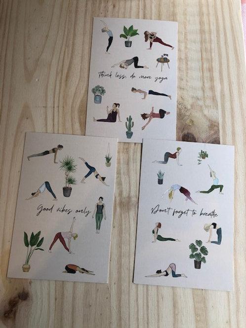 3 cartes-mantra de yoga