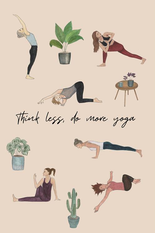 "Carte postale Yoga ""Think less, do more yoga"""