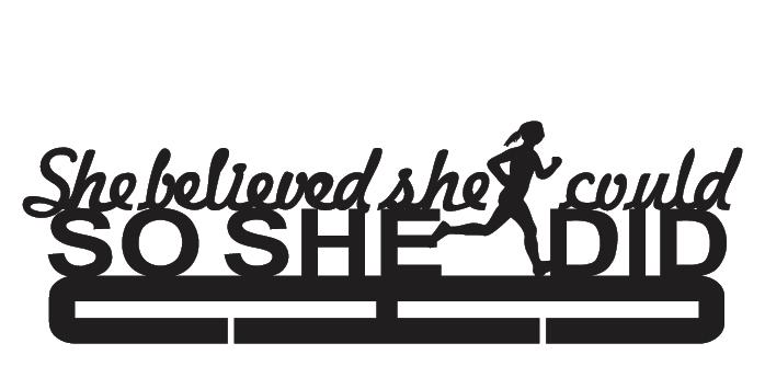 Running Medal Holder - She Believed