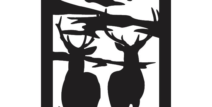 Deer Scene - Rectangle