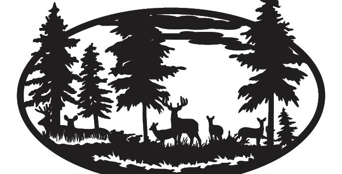 Deer Scene Oval