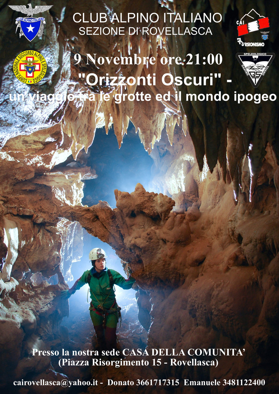 9 Novembre 2018: Serata speleologica