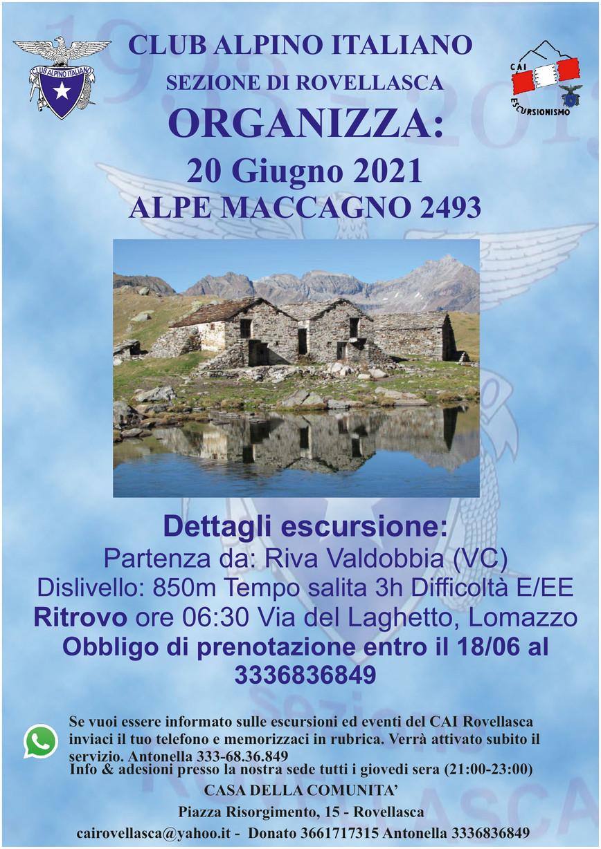 20 Giugno 2021: Alpe Maccagno