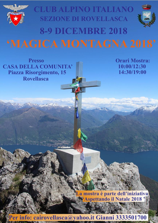 "8-9 Dicembre 2018: Mostra Fotografica ""Magica Montagna 2018"""