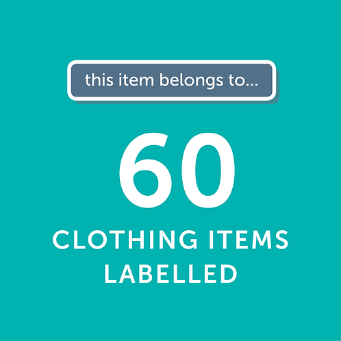 60 Items Labelled
