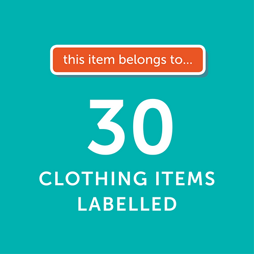 30 Items Labelled