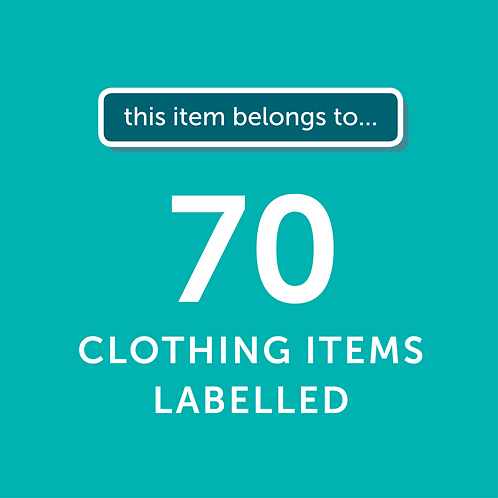 70 Items Labelled