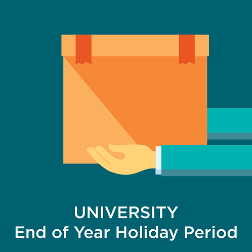 University End of Year Holiday Storage