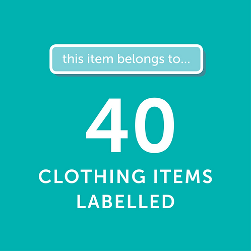 40 Items Labelled