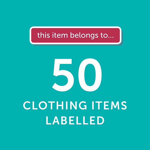 50 Items Labelled