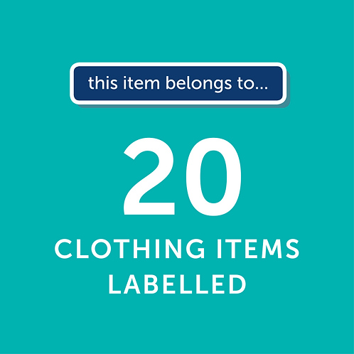 20 Items Labelled