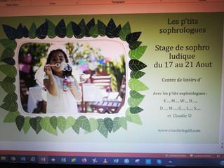 EN PLEINE PREPARATION DU STAGE DE SOPHRO LUDIQUE !