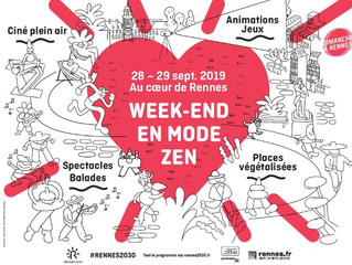 WEEK-END EN MODE ZEN : SAMEDI 28 SEPTEMBRE aux Galeries Lafayette de Rennes. Je vous y attends !