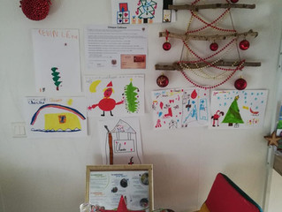 Quelques dessins d'enfants sont venus illuminer le cabinet !