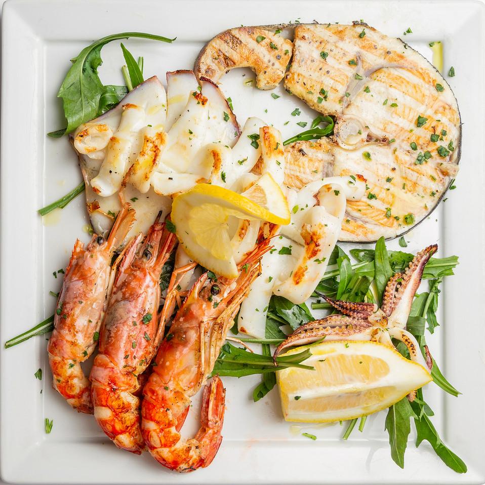 Shrimp and swordfish