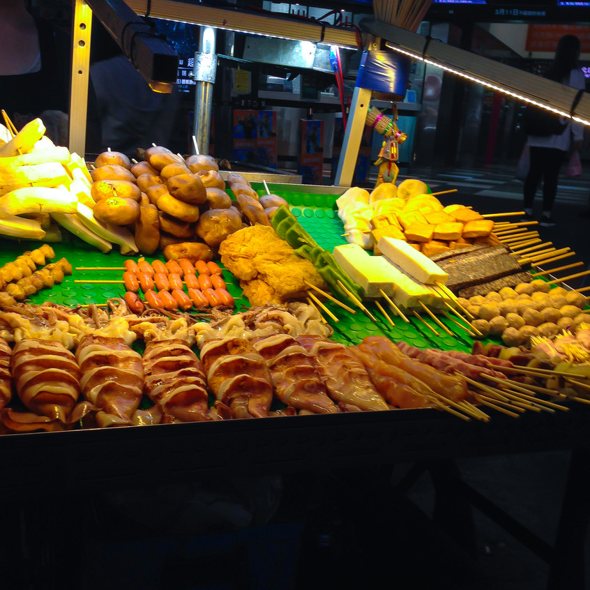 Wide array of streetfood