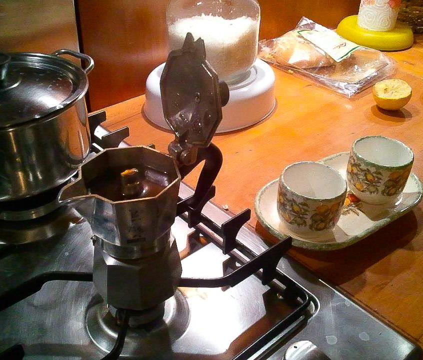 Typical Italian home coffee machine