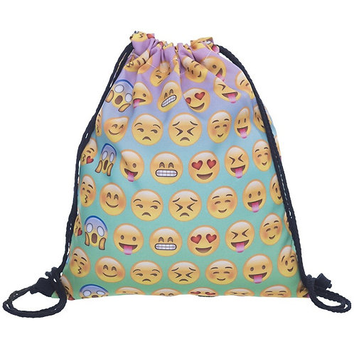 Drawstring Bag Emoticon Gradient