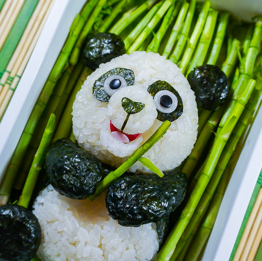 Panda in a Bamboo Forest