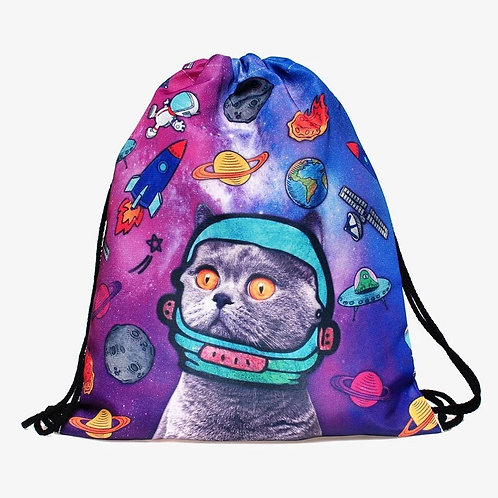 Drawstring Bag Cosmic Cat