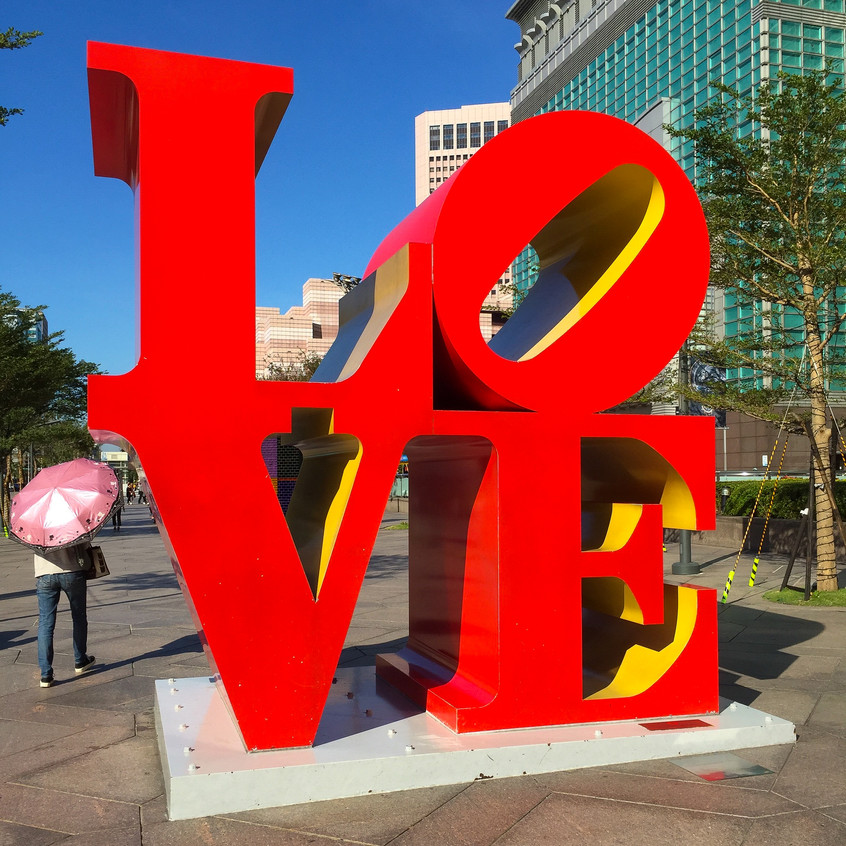 LOVE Sculpture at Taipei 101 Grounds