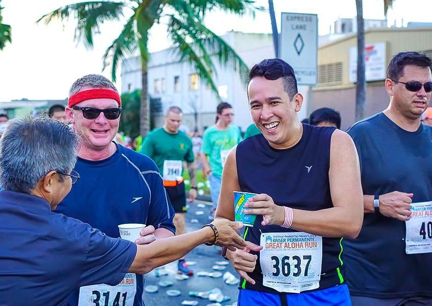 Great Aloha Run with husband, Thomas