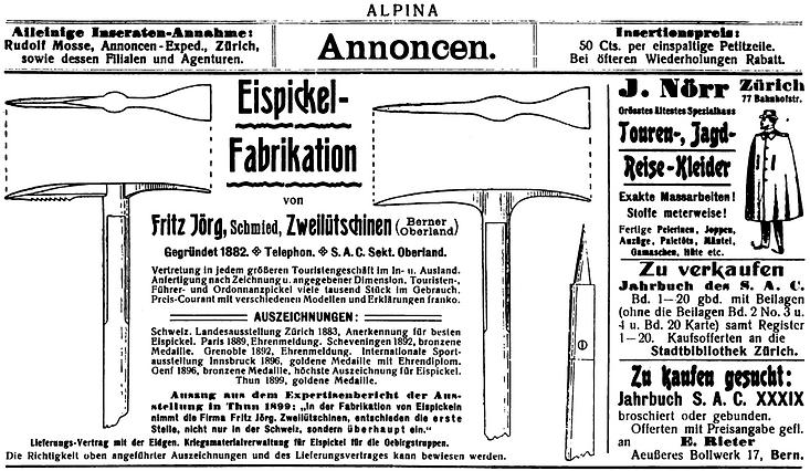 Fritz Jörg advertisement 1905