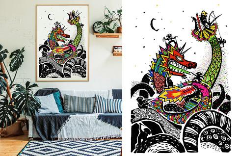 Dragão do Angico Fine Art R$ 1.100