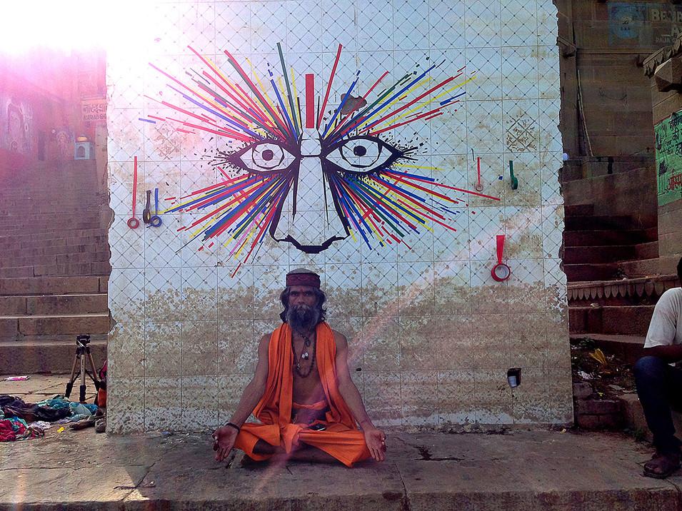GANGES EYES - VARANASI, ÍNDIA 2014